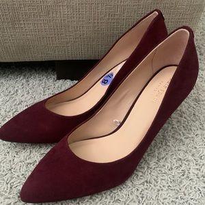 Maroon suede KATE SPADE heels